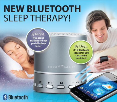 bluetooth sleep sound therapy system with custom sound card bst 100 10. Black Bedroom Furniture Sets. Home Design Ideas