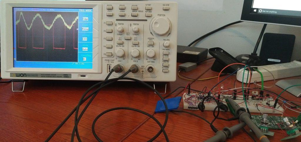 comparator breadboard oscilloscope