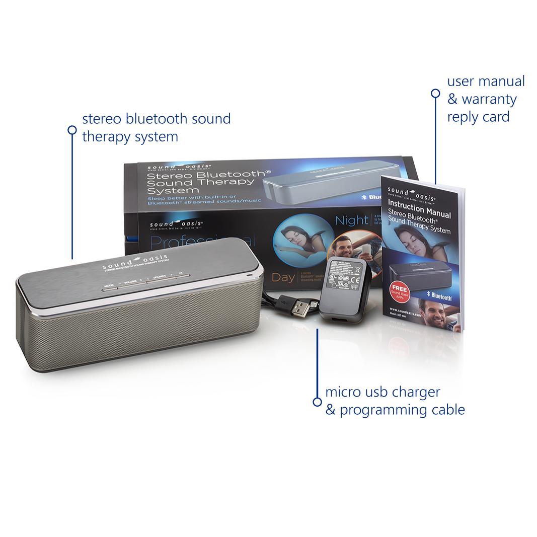 Bst 400 Stereo Bluetooth Sleep Sound Therapy System