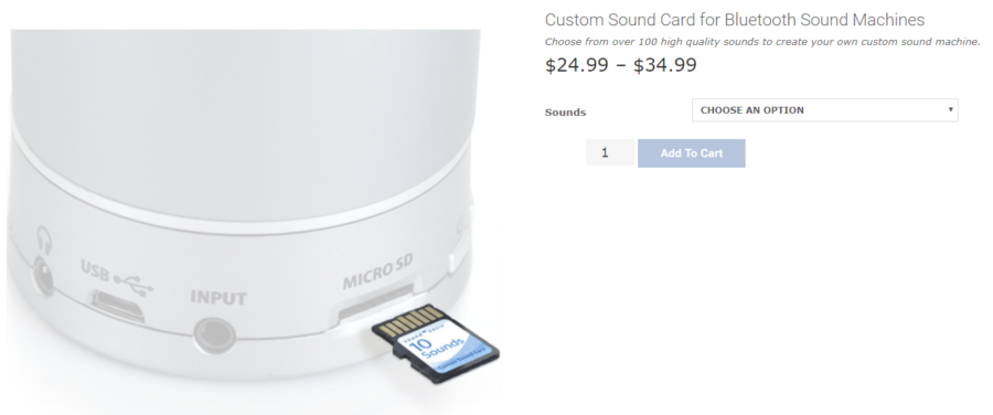 add custom sounds to cart