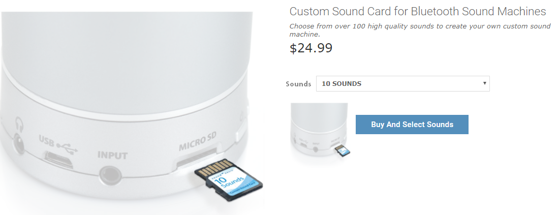 buy and select sounds