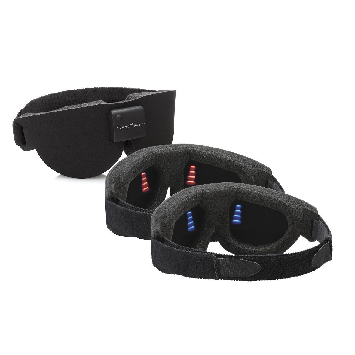 red and blue sleep mask